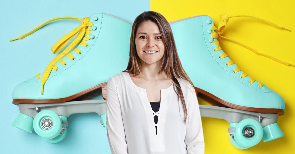 Clases de patinaje al aire libre en Terrazas Lindora: Diana Villareal